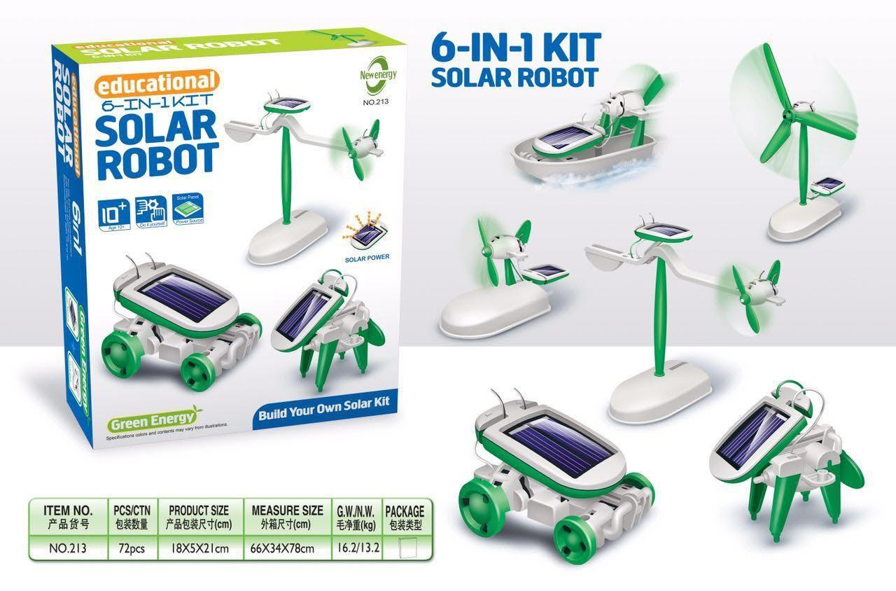 Конструктор на солнечных  Батареях  Робот 6 В 1