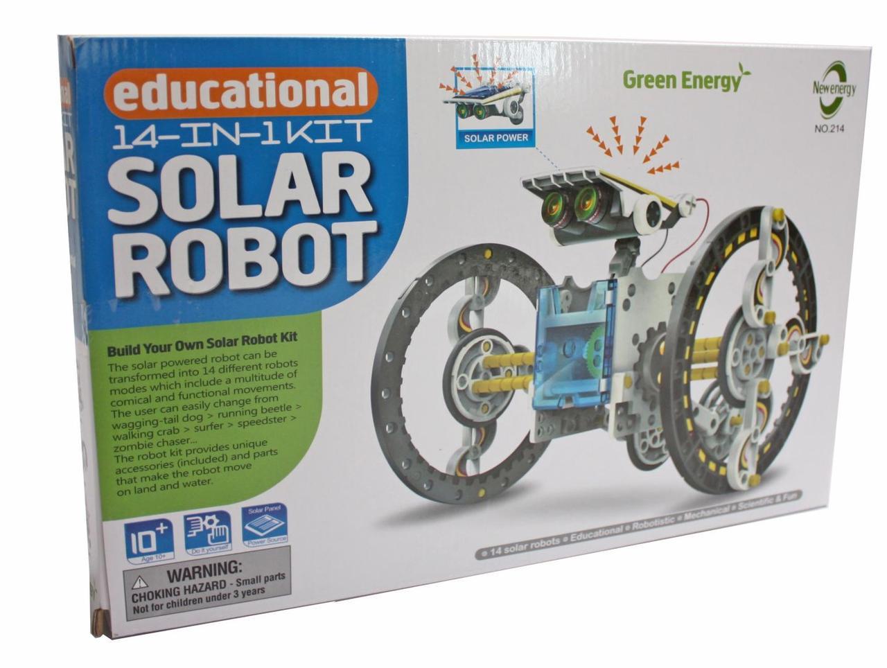 """Конструктор на солнечных батареях """"Робот"""" 14 в 1"""