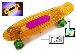 """Penny """"Fish Skateboard Original"""" Orange. Музыкальная и светящаяся дека!"""
