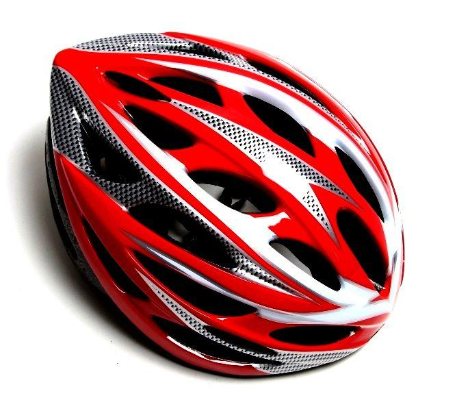 Шлем велосипедный с регулировкой. Красный цвет.