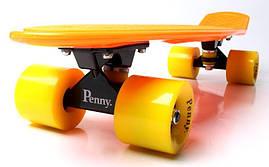 Penny Board. Оранжевый цвет. Желтые колеса