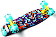 "Penny Board ""Marco's"" Violet 2in1 Светящиеся колеса, фото 1"