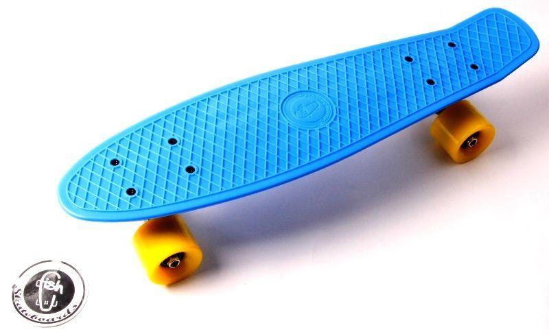 "Penny Board ""Fish""  Голубой цвет."