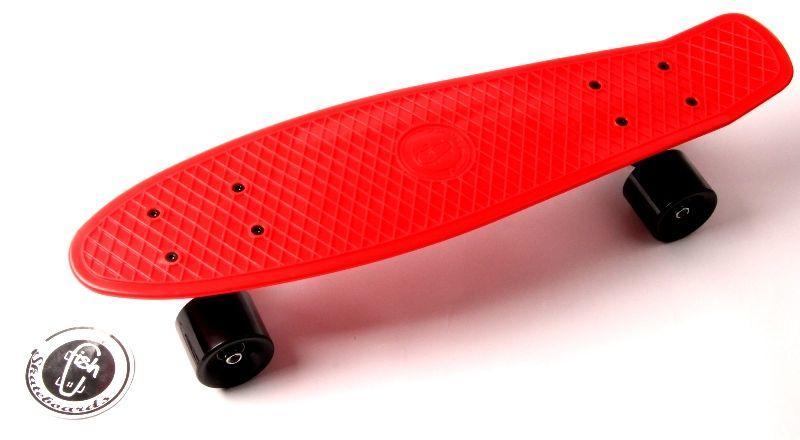 """Penny Board """"Fish"""" Червоний колір."""