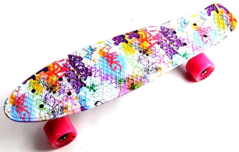 "Penny Board ""Fish"" Graffity."