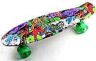 """Penny Board """"Graffiti"""" Светящиеся колеса, фото 1"""