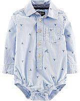 Детская боди-рубашка для мальчика 9, 12, 18,  24 месяца