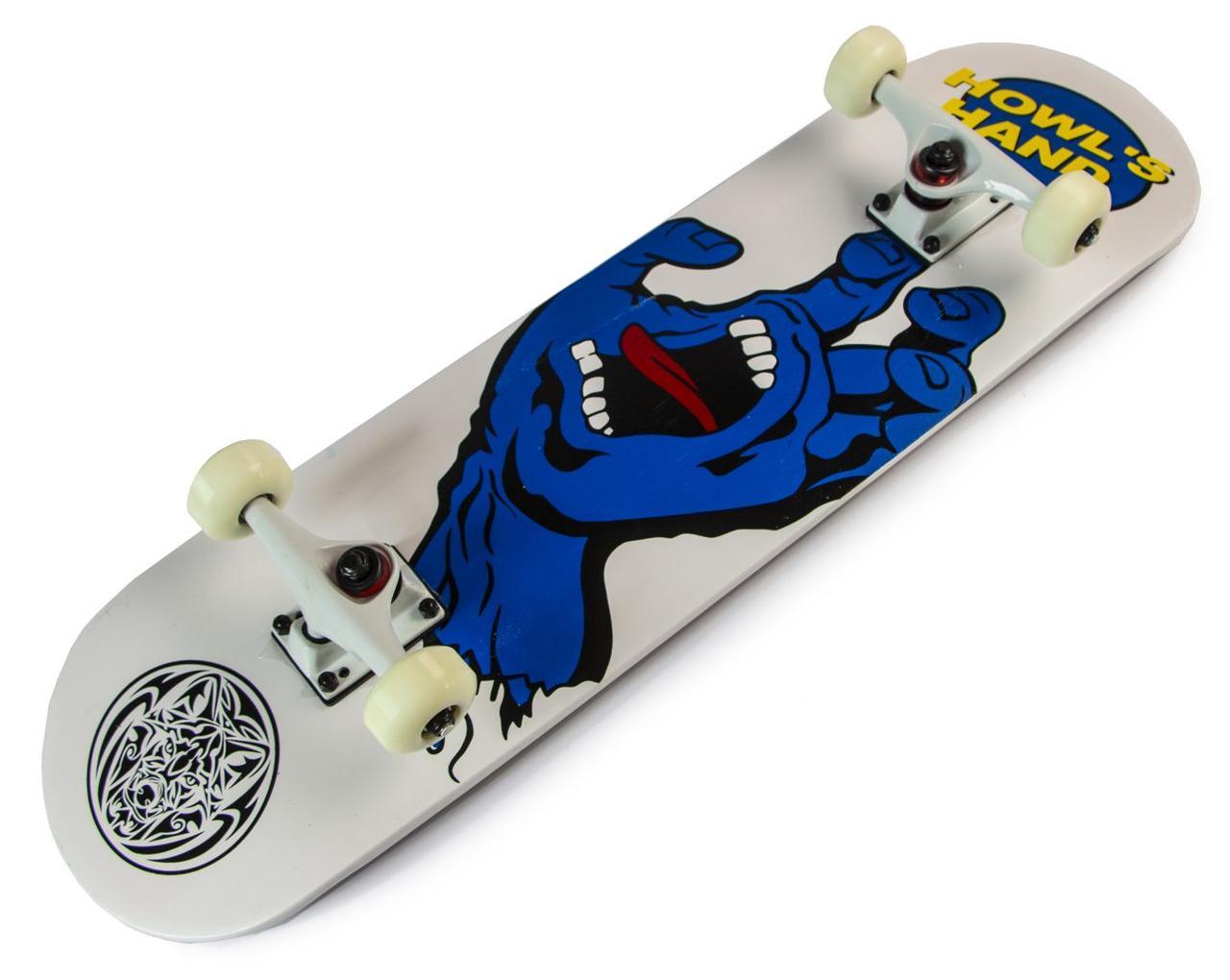 "Скейтборд Scale Sports ""Синяя рука"", нагрузка до 90 кг"