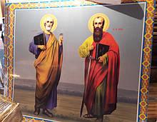 Икона Святых Апостолов Петра и Павла для храма (печать на пвх)