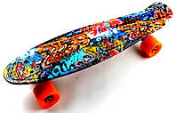 "Penny Board ""Cool Draft 2"" Graffiti, фото 1"