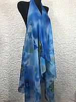 Женская голубая накидка для пляжа (цв.4)