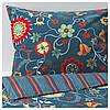 IKEA ROSENRIPS Комплект постельного белья, синий узор  (604.004.39)