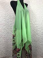 Женская пляжная накидка кислотно-салатового цвета (цв.5)