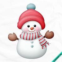 Термоаппликации на толстовки Снеговичек [Свой размер и материалы в ассортименте], фото 1