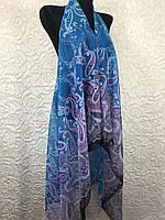 Женская голубая накидка на купальник (цв.9)