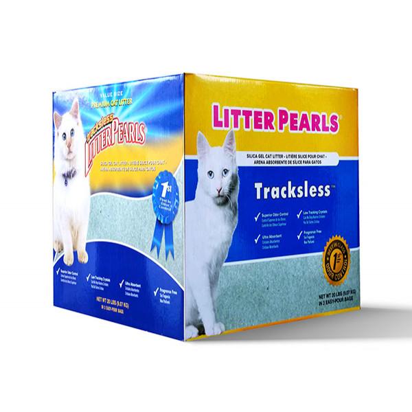 Litter Pearls TrackLess кварцовий наповнювач для туалетів котів 18.94 л 9.07 кг