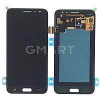 Дисплей для Samsung J320H/DS Galaxy J3 2016 черный (LCD экран, тачскрин, стекло в сборе), Дисплей Samsung J320H / DS Galaxy J3 2016 чорний (LCD екран,