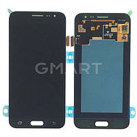 Дисплей Samsung J320H/DS Galaxy J3 2016 черный (LCD экран, тачскрин, стекло в сборе), Дисплей Samsung J320H / DS Galaxy J3 2016 чорний (LCD екран,