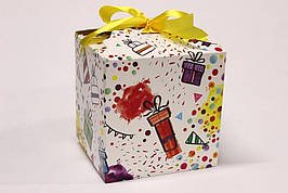 Подарочная коробка Упаковкин 17,5*17,5*17,5см №КР 1-6