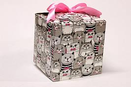 Подарочная коробка Упаковкин 17,5*17,5*17,5см №КР 1-4