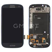 Дисплей Samsung I9300 Galaxy S3 синий (LCD экран, тачскрин, стекло, рамка в сборе), Дисплей Samsung I9300 Galaxy S3 синій (LCD екран, тачскрін, скло,