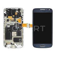 Дисплей Samsung I9190 Galaxy S4 Mini синий (LCD экран, тачскрин, стекло, рамка в сборе), Дисплей Samsung I9190 Galaxy S4 Mini синій (LCD екран,