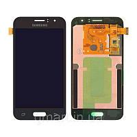 Дисплей для Samsung J120H Galaxy J1 2016 черный (LCD экран, тачскрин, стекло в сборе), Дисплей Samsung J120H Galaxy J1 2016 чорний (LCD екран,