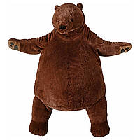 IKEA DJUNGELSKOG Мягкая игрушка, бурый медведь  (004.028.13)