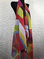 Женская разноцветная накидка на купальник (цв.18)