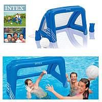 Ворота для футбола и водного поло с надувным мячом Intex 58507