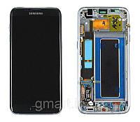 Дисплей Samsung G935F Galaxy S7 Edge черный (LCD экран, тачскрин, стекло, рамка в сборе), Дисплей Samsung G935F Galaxy S7 Edge чорний (LCD екран,