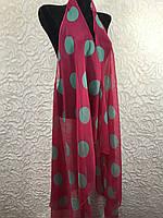 Женская шифоновая пляжная накидка в горох (цв.23)
