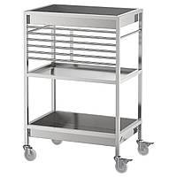 IKEA KUNGSFORS Столик на колесах, нержавеющая сталь (803.349.24)