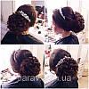 Гребінь для волосся весільний, діадема, весільні прикраси для волосся, фото 6