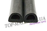 """Уплотнитель Domus - """"D"""" 10 х 12 мм, 50 м (черный)"""