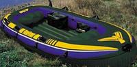 68351 Лодка четырехместная 351*145*48см алюм.весла, насос,Надувная большая лодка, Лодка с алюминиевыми веслами, фото 1