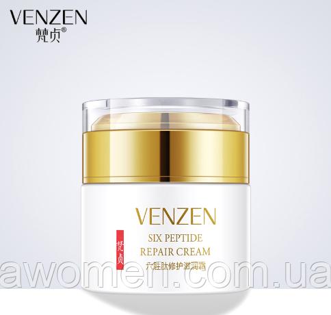 Омолаживающий лифтинг крем для лица Venzen SIX PEPTIDE 50 g