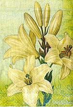 Серветки декупажні Біла лілія 125