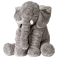 IKEA JATTESTOR Мягкая игрушка, слон, серый  (703.735.91)