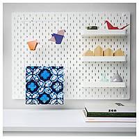 IKEA SKADIS Перфорированная панель, белый  (392.170.70)