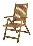Складной садовый стул Florabest 56х105х75,5см бежевый