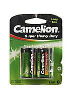 Набор батареек С (2шт) Camelion 4,5х2,5см Черный, Зеленый, Серебро
