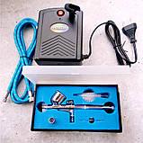 Набор для кондитерской аэрографии (аэрограф и мини компрессор), фото 2