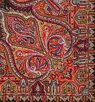 """Павлопосадский платок шерстяной с шелковой бахромой """"Шафран"""", вид 18, 89x89 см, фото 2"""