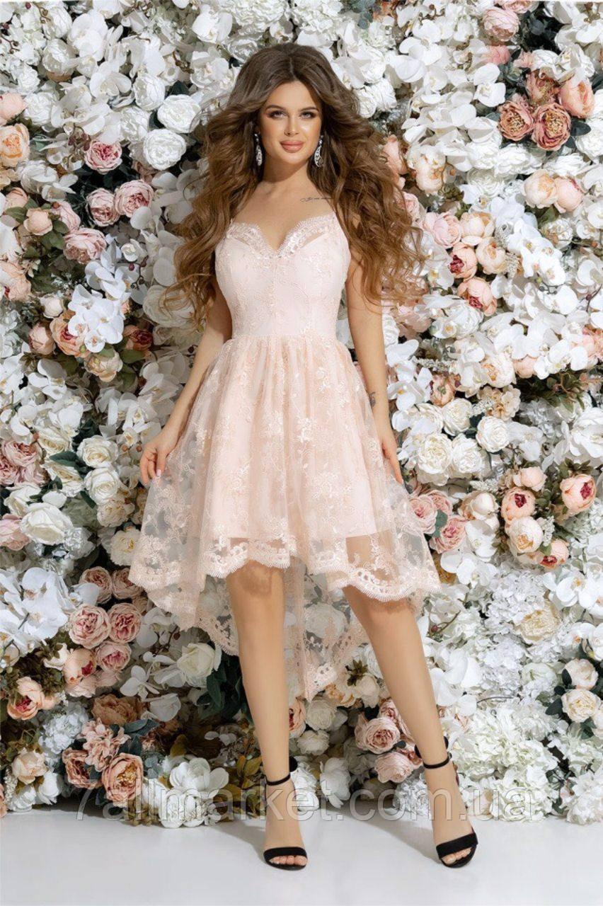 449a775b111fe7a Платье женское вечернее с вышивкой на сетке, размеры 42-46 (4цв ...