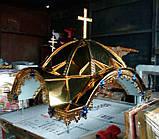 Дах для жертовника з булату з хрестом (спецзамовлення), фото 4