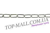Цепь длиннозвенная Укрметиз - 4 х 28 х 10 м, оцинкованная
