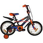 Детский велосипед Azimut Stitch 16 дюймов серый, фото 2