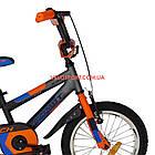 Детский велосипед Azimut Stitch 16 дюймов серый, фото 3