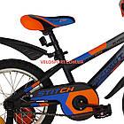 Детский велосипед Azimut Stitch 16 дюймов серый, фото 5